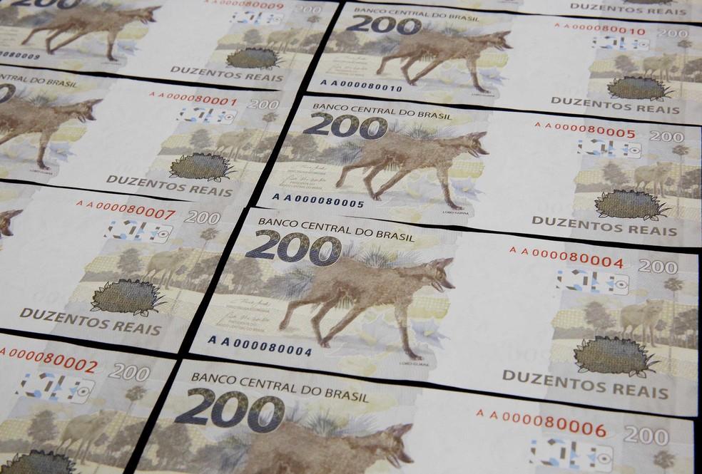 Banco Central (BC) lançou nesta quarta-feira (2) a nova nota de R$ 200 com a imagem do lobo-guará — Foto: Raphael Ribeiro/BCB