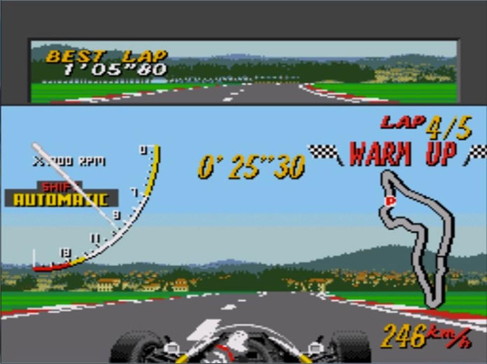 Super Monaco Gp tinha a presença de Ayrton Senna (Foto: Divulgação/SEGA)