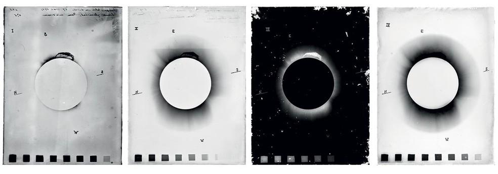 Registros fotográficos do eclipse solar em Sobral, no Ceará — Foto: Observatório Nacional