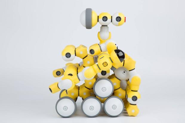 Brinquedo permite que crianças construam seus próprios robôs  (Foto: Reprodução)
