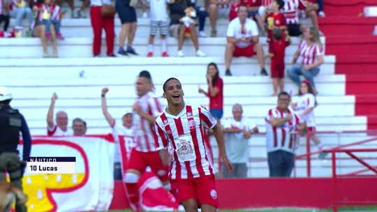 O gol de Náutico 1 x 0 Newell's Old Boys em amistoso internacional