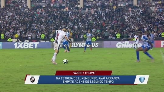Jornalistas analisam o empate do Vasco com o Avaí e comentam sobre momento do time