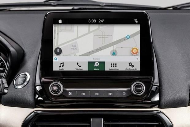 Central Sync da Ford agora é compatível com Waze no iOS (Foto: Divulgação)