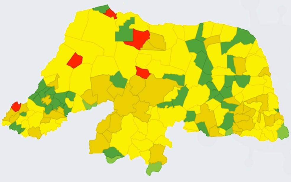 Cinco municípios do RN estão em nível vermelho — Foto: Divulgação