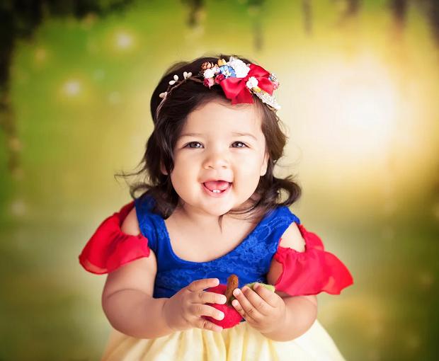 Branca de Neve com 1 ano de idade (Foto: Karen Marie)