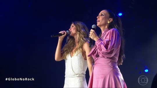 VÍDEO: Gisele e Ivete cantam 'Imagine' e abrem noite