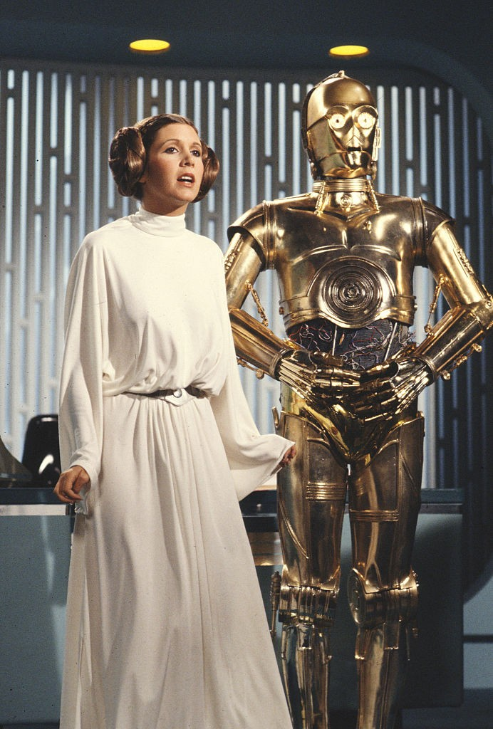 Carrie Fischer como princesa Leia, em Star Wars, 1978 (Foto: CBS via Getty Images)