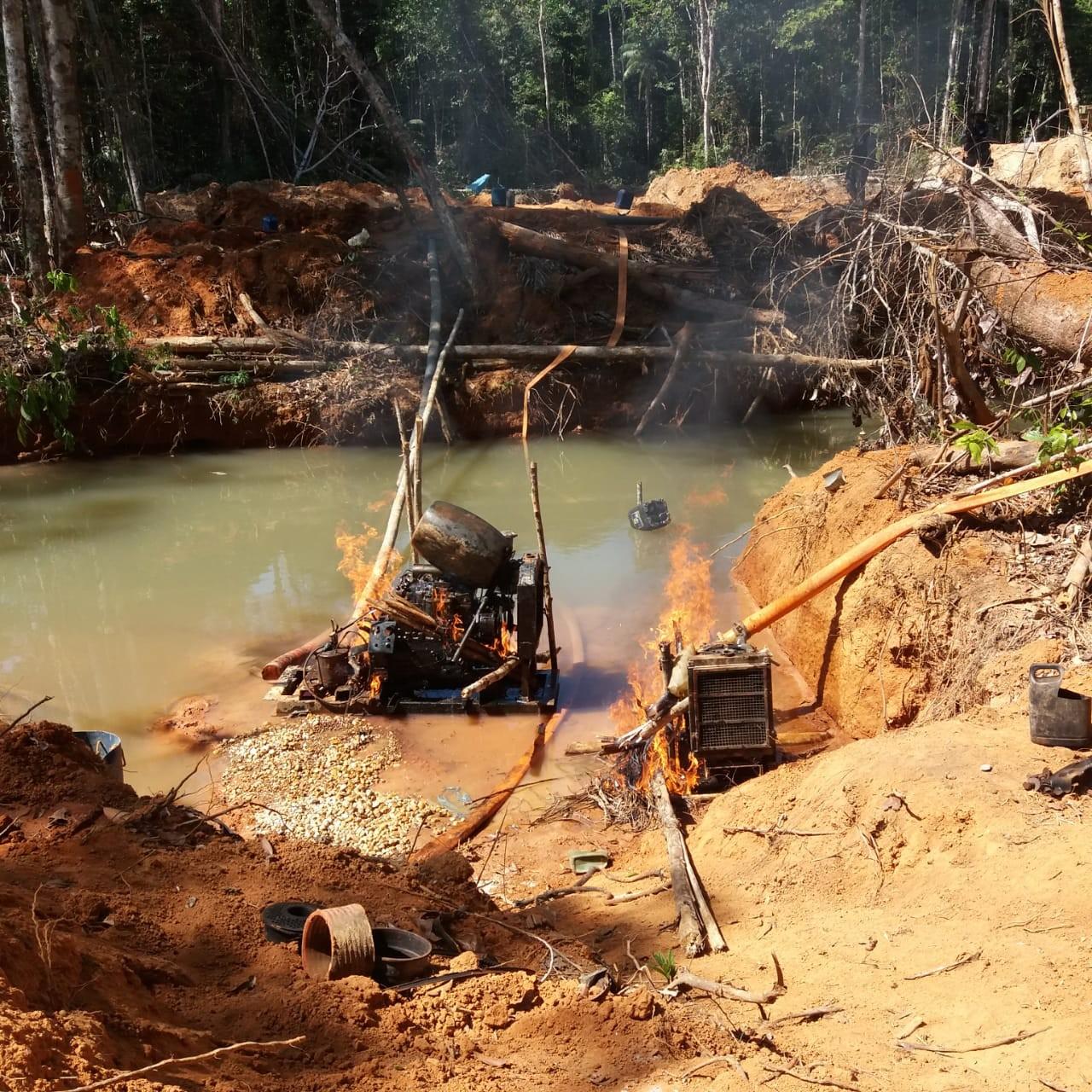 Garimpos ilegais em reservas indígenas de RO e MT são desativados