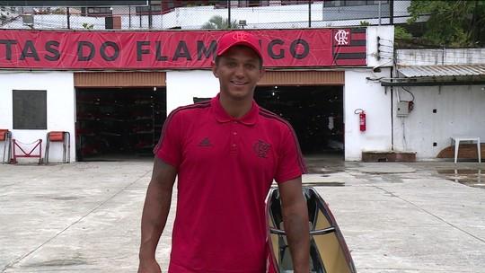 Isaquias vibra com apresentação à la Gabigol no Flamengo e invasão rubro-negra em rede social