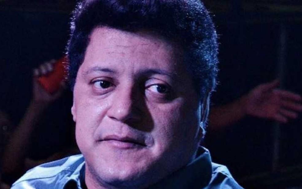 Wellington Camargo foi preso por não pagar pensão alimentícia, em Goiânia — Foto: Reprodução/TV Anhanguera