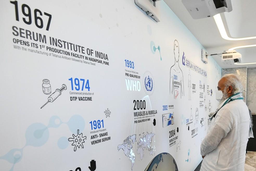 Adar Ponnawala, diretor-executivo do Instituto Serum da India, o maior produtor mundial de vacinas contra a Covid-19 — Foto: AFP PHOTO/Indian Press Information Bureau (PIB)