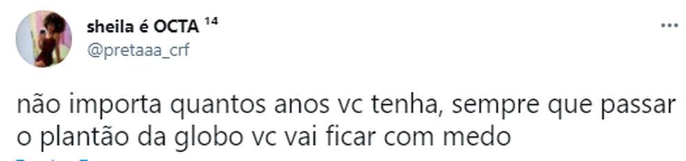 Publico repercute nas redes sociais a vinheta do Plantão da Globo exibida por engano — Foto: reprodução/twitter