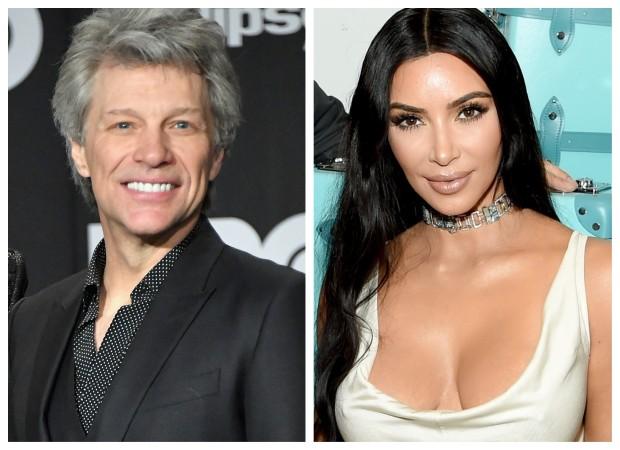 Jon Bon Jovi e Kim Kardashian (Foto: Getty Images/Reprodução)