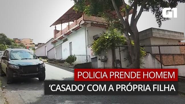 VÍDEO: Polícia prende homem que vivia 'casado' com a própria filha