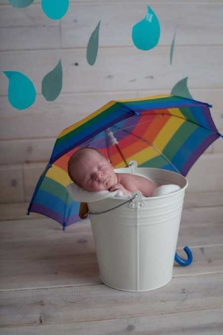 bebê arco-íris (Foto: Finn Fotography)