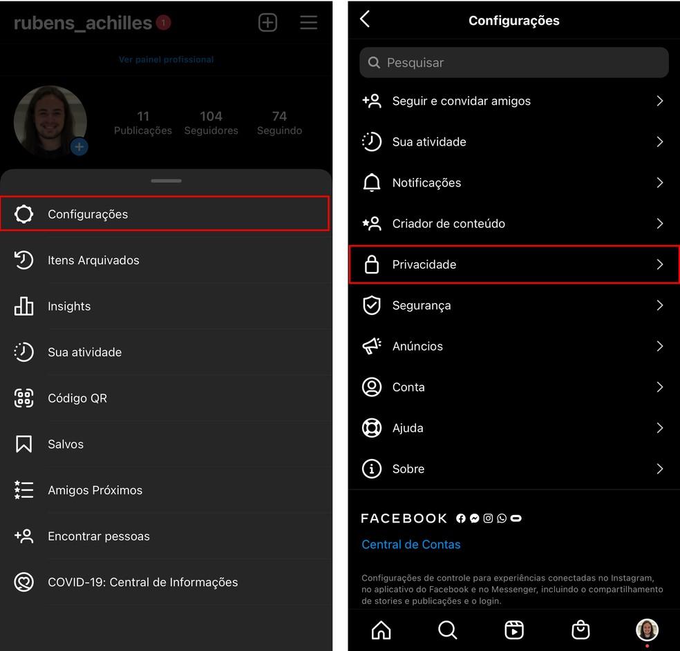 Como tirar o número de curtidas no Instagram? App tem menu com opções de privacidade — Foto: Reprodução/TechTudo