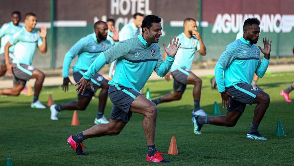 Jogadores poderão treinar não só parte física, como técnica — Foto: Lucas Merçon / Fluminense FC