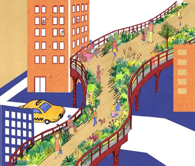 Livro de urbanismo para crianças  (Foto: Ilustração Luísa Amoroso)