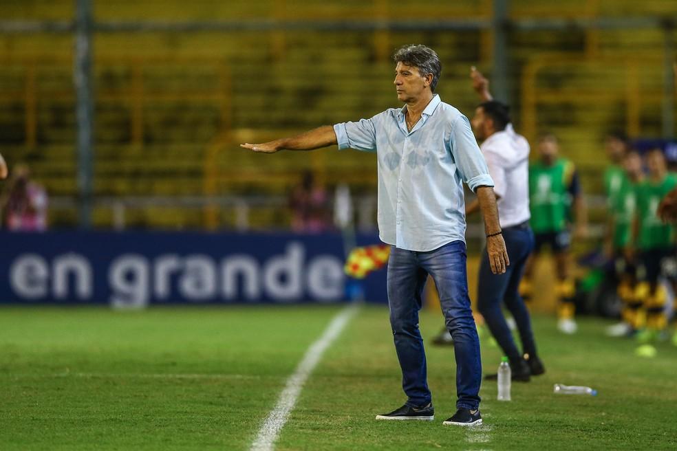 Renato Gaúcho considerou bom o empate na Argentina — Foto: Eduardo Moura/GloboEsporte.com