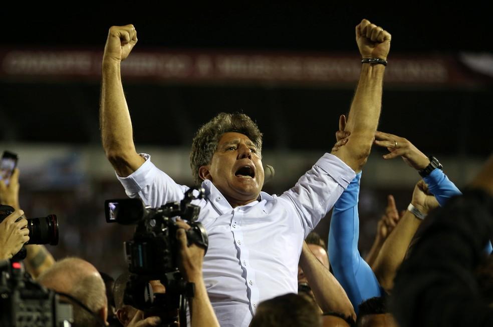 Renato Portaluppi levou o Grêmio ao tricampeonato da Libertadores (Foto: Reuters)