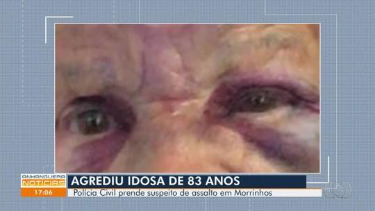 Jovem é preso após tentativa de roubo e agressão a uma idosa, em Morrinhos
