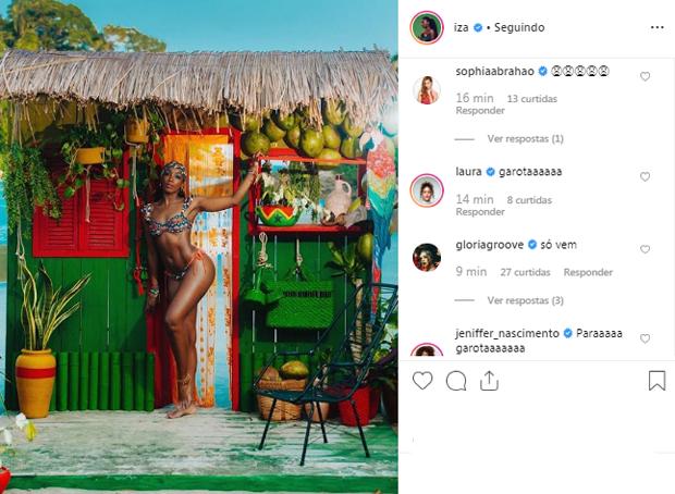 IZA grava novo clipe (Foto: Reprodução/Instagram)