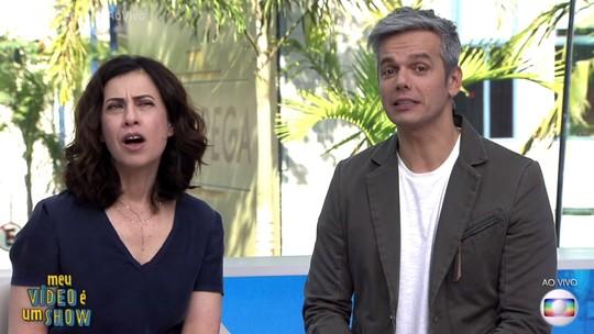 Reações de Fernanda Torres ao rever carreira no 'Vídeo Show' divertem a web