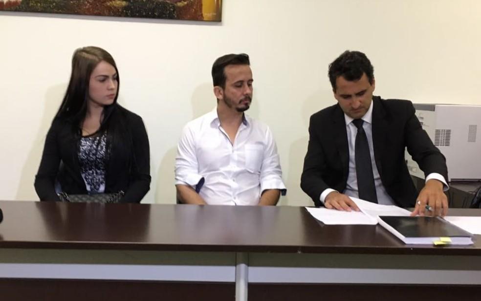 Raquel e Fábio foram mandados a júri popular por morte de ajudante de leilão em Goiânia (Foto: Vitor Santana/G1)