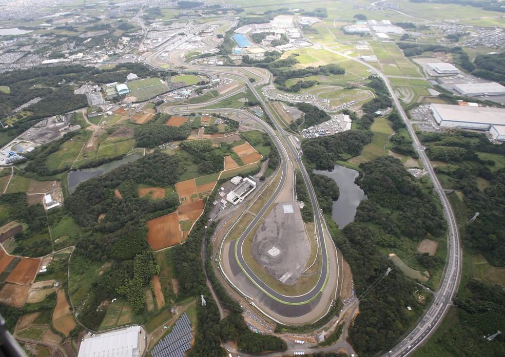 Circuito de Suzuka recebe a F1 desde a temporada de 1987 — Foto: Reprodução F1