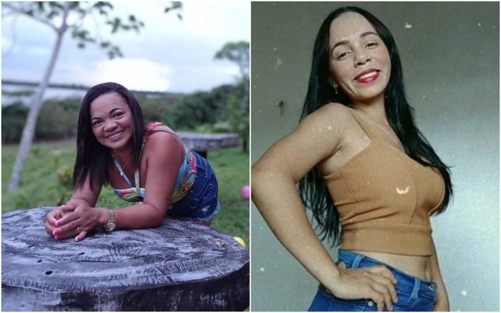 Geane Oliveira, de 43 anos (à esq.), e a filha, Géssica Oliveira Soares, de 22 anos (à dir.), estão entre os desaparecidos do naufrágio na costa da Guiana Francesa — Foto: Arquivo Pessoal