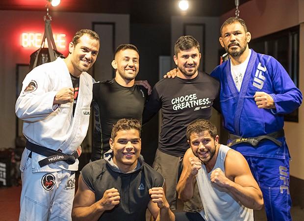 Paulo Procópio, Pedro Munhoz, Rodrigo Ruiz, Rodrigo Minotauro, Paulo Borachinha e Duda Nagle (Foto: Eduardo Saraiva/ Quem Acontece)