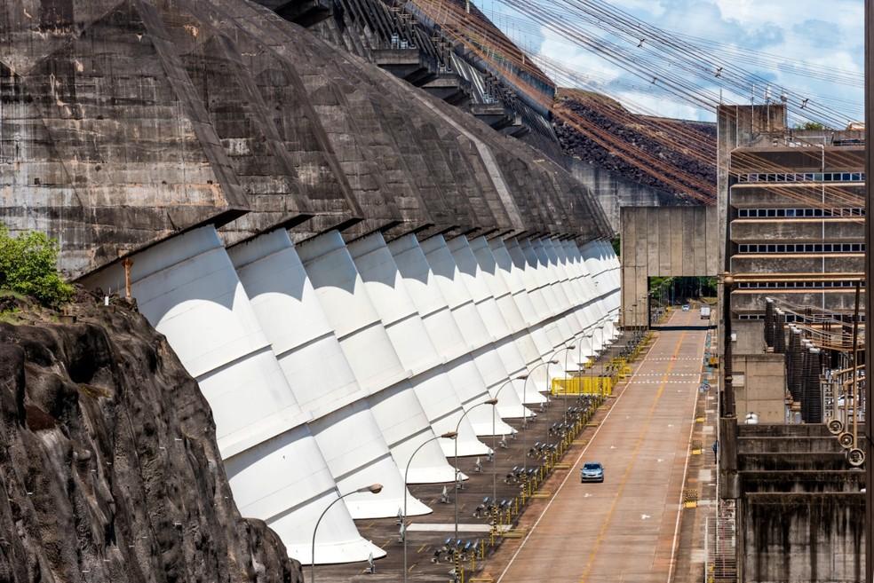 Itaipu Binacional é utilizada de forma estratégica para ajudar com possíveis apagões no Brasil — Foto: Rubens Fraulini/Itaipu Binacional