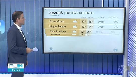 Previsão do tempo: no sábado, frio continua no Sul do Rio de Janeiro