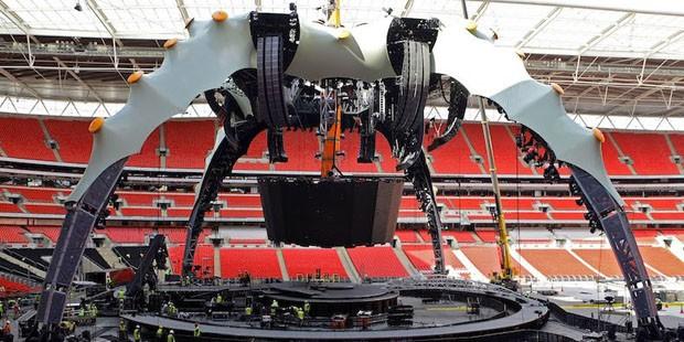 """""""Garra"""" gigantesca do palco do U2 ganha instalação nos EUA (Foto: Divulgação)"""