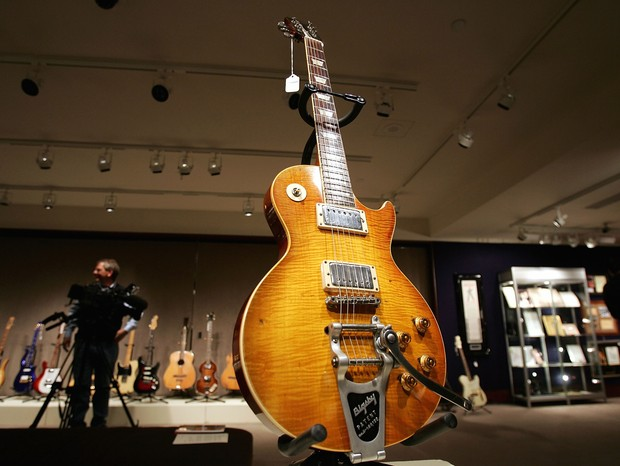 Guitarra usada por Keith Richards, dos Rolling Stones (Foto: getty images)