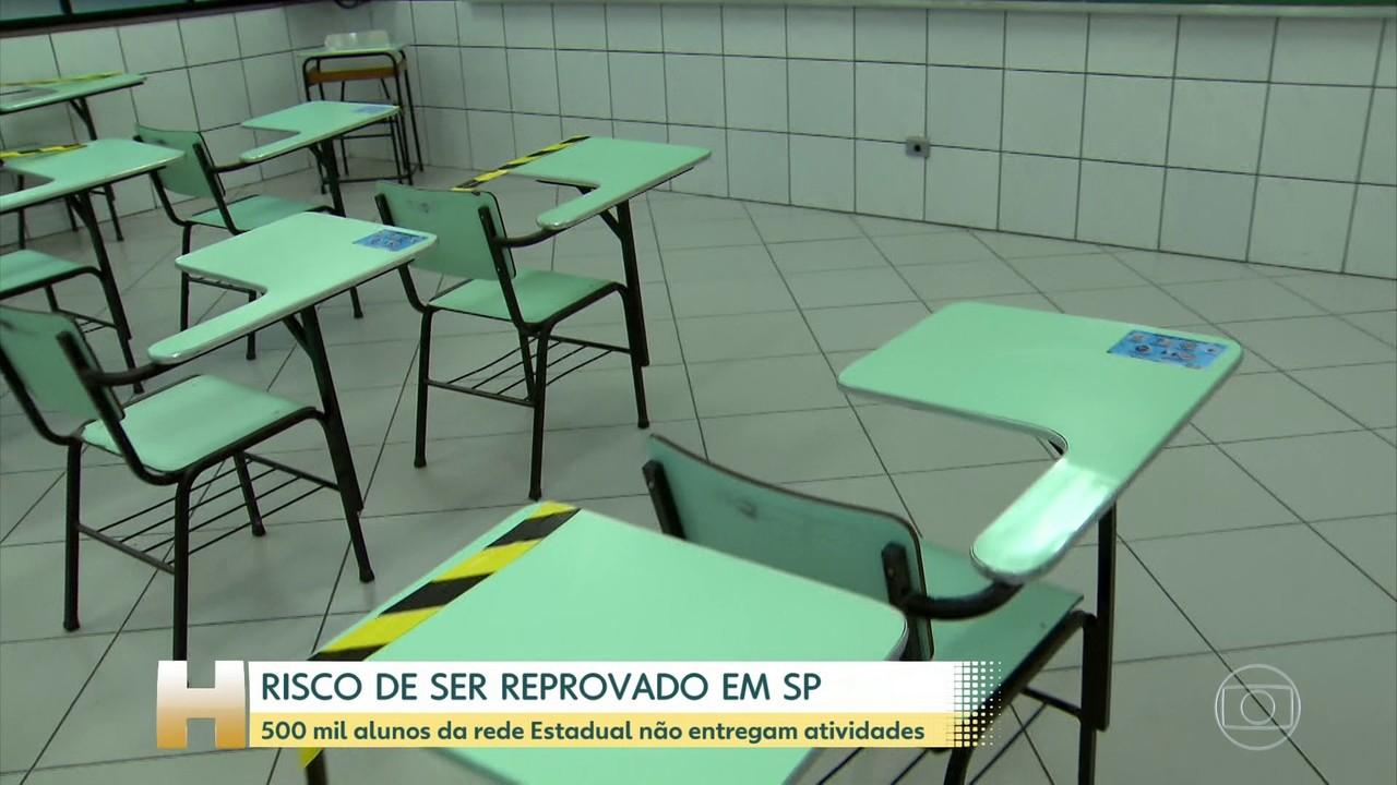 500 mil alunos da rede Estadual em São Paulo não entregaram atividades na pandemia