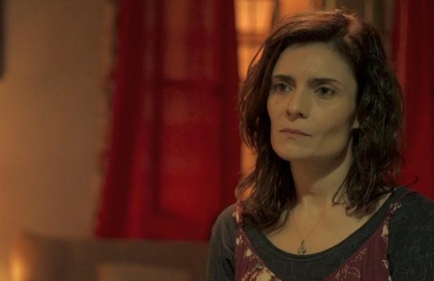 No sábado (18), Leila (Arieta Corrêa) vai descobrir que Magno (Juliano Cazarré) matou Genilson (Paulo Gabriel) (Foto: Reprodução)