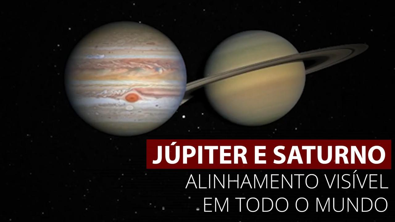 VÍDEO: Aproximação entre Júpiter e Saturno no céu poderá ser vista a olho nu
