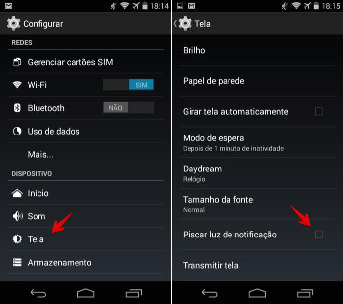 Desativando luz de notificação do Android (Foto: Reprodução/Helito Bijora)
