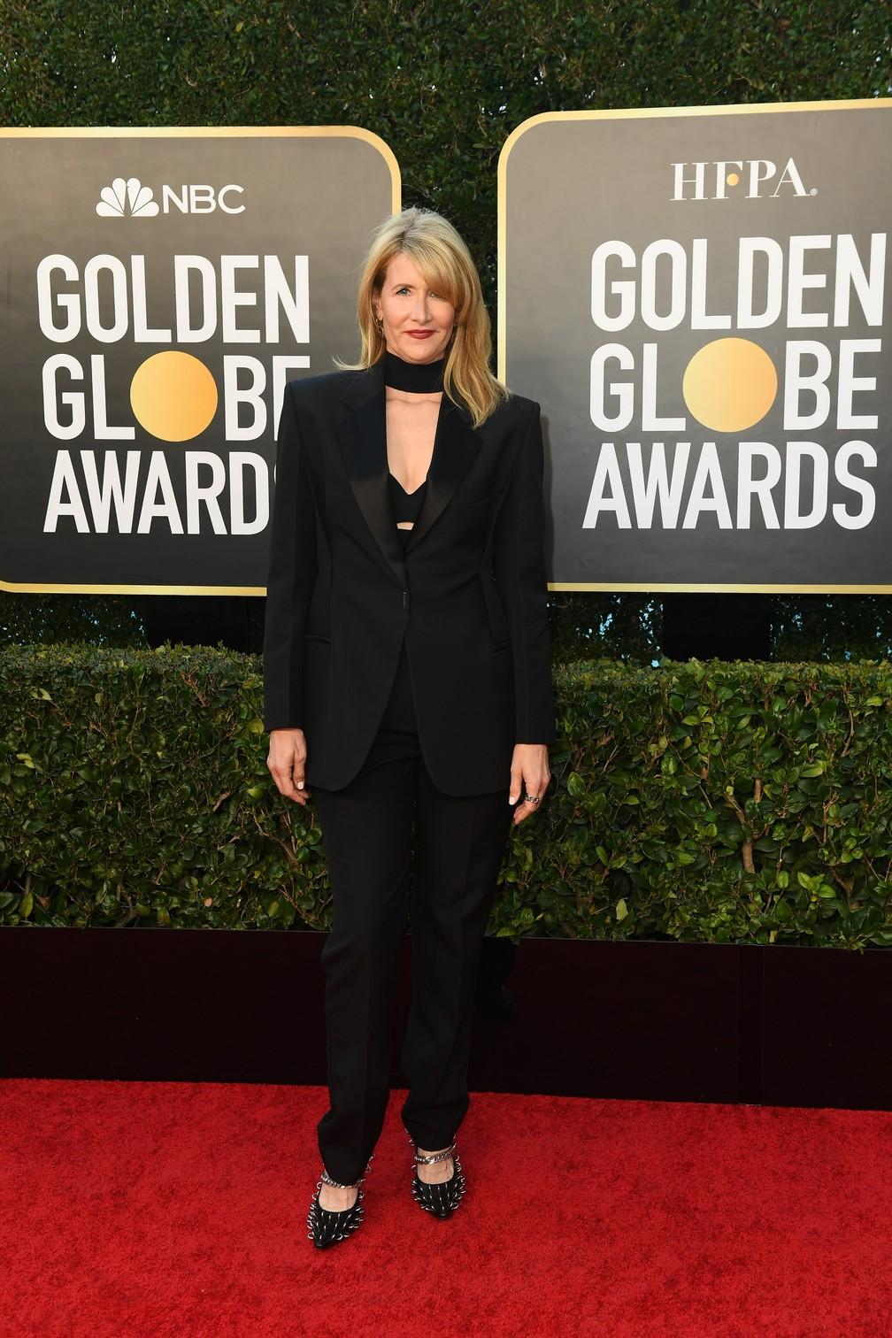 Laura Dern no Globo de Ouro 2021 — Foto: Reprodução/Twitter/Golden Globe