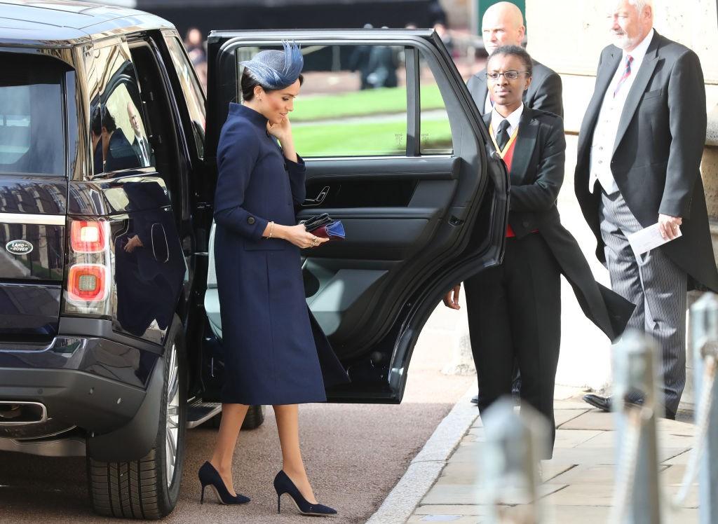 Meghan Markle no casamento da Princesa Eugenie (Foto: Getty Images)