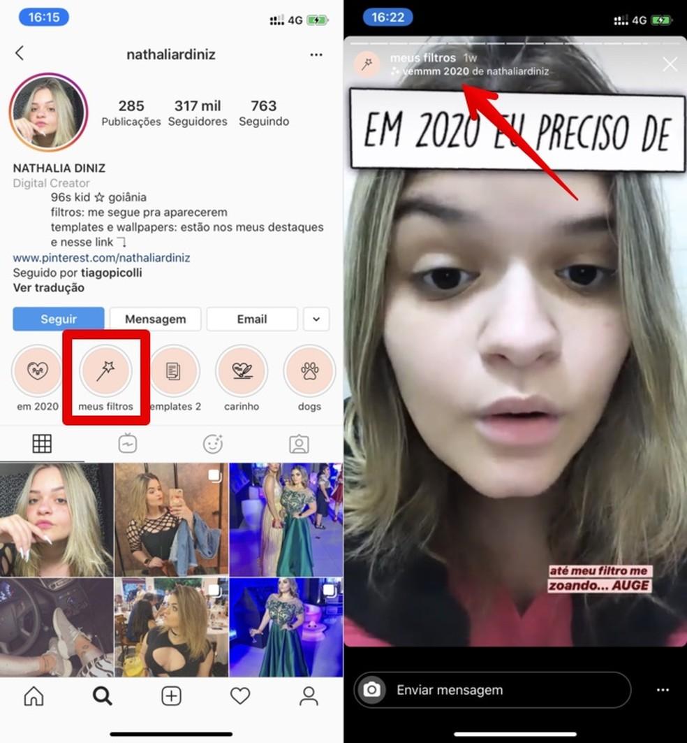 print 2019 12 09 16 34 09 bmlse - 'Em 2020 eu preciso de': como baixar e usar o filtro do Instagram