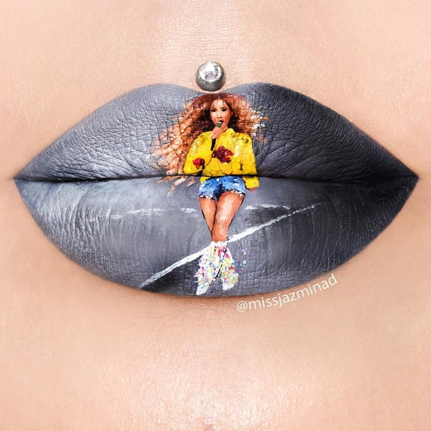Lip art (Foto: Reprodução Instagram)