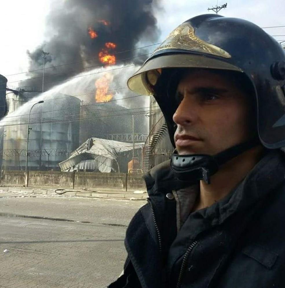Soldado trabalhava no Corpo de Bombeiros de Guarujá (SP) — Foto: Reprodução/ Redes Sociais