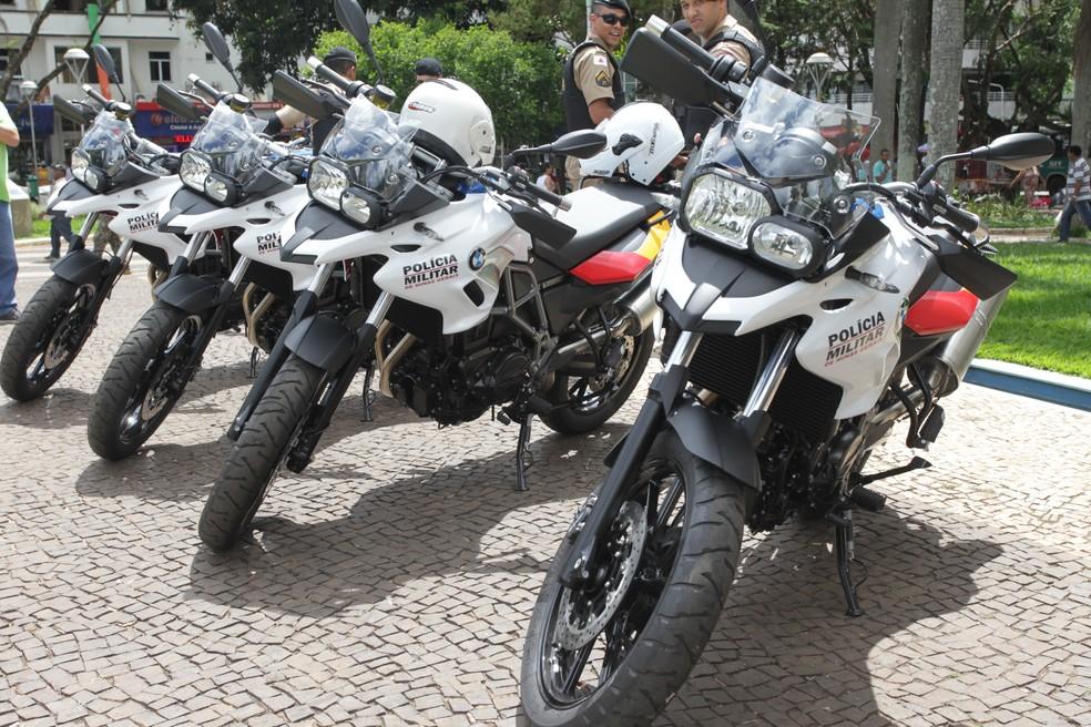 -  Novas motocicletas vão integrar a frota da PM de Uberlândia  Foto: Prefeitura de Uberlândia/Divulgação