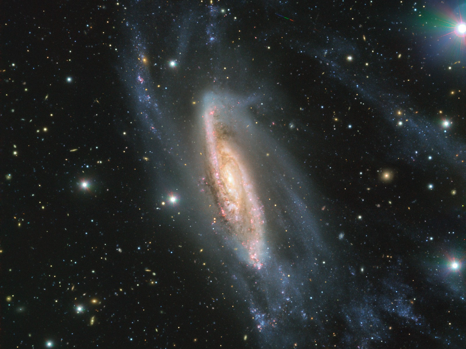 Os braços espirais da NGC 3981 captado pelo ESO. (Foto: ESO)