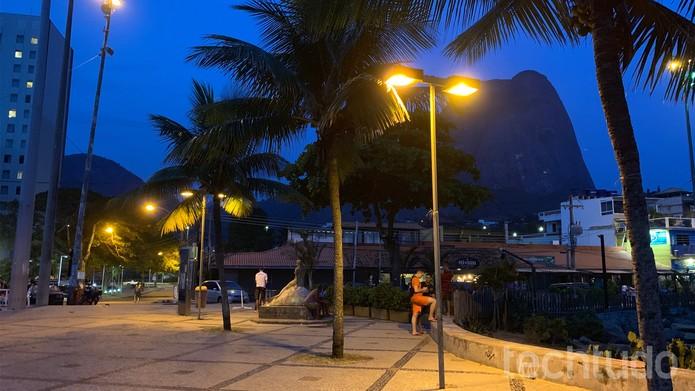iPhone XS Max (câmera traseira - noturno) (Foto: Bruno De Blasi/TechTudo)