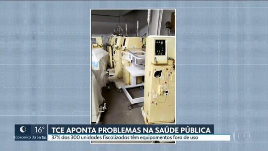 Mais de 1/3 das unidades de saúde do estado de SP têm equipamentos parados, diz TCE