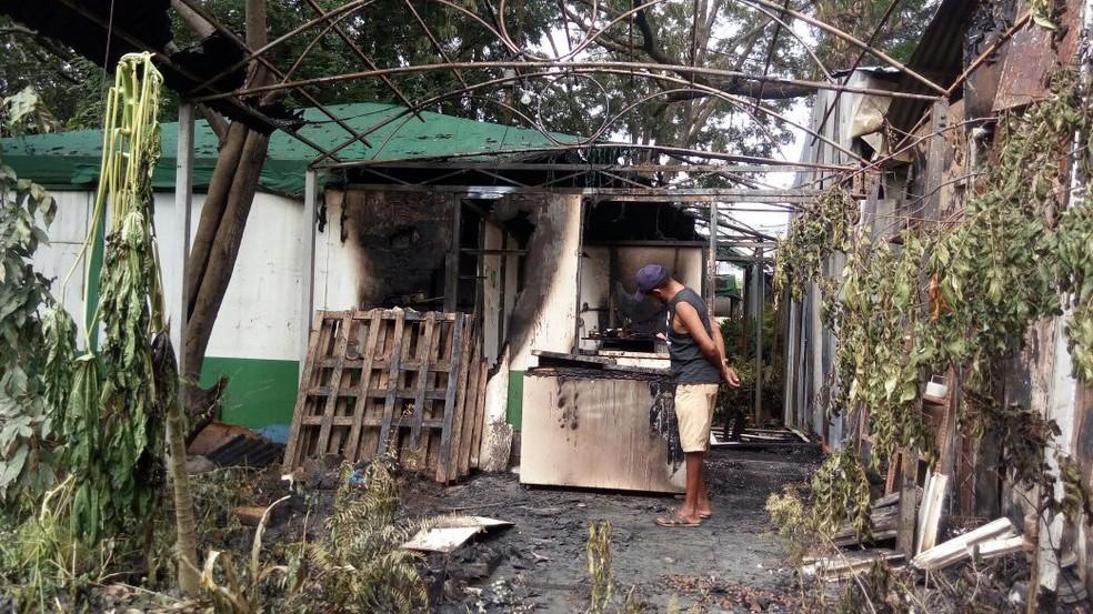 Proprietários tiveram grandes perdas (Foto: Catarina Costa/G1)