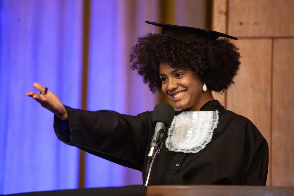 Jéssica Ellen será Camila, uma professora de História apaixonada pela profissão  — Foto: Isabella Pinheiro/Gshow